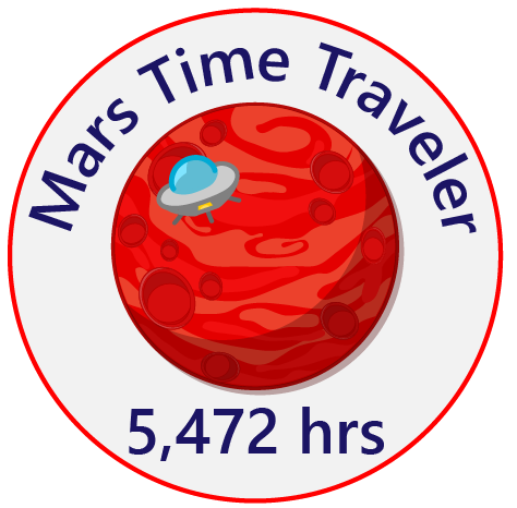 Mars time badge