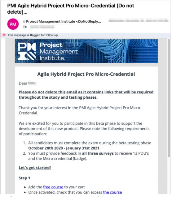 Hybrid Project Pro Micro-Credential